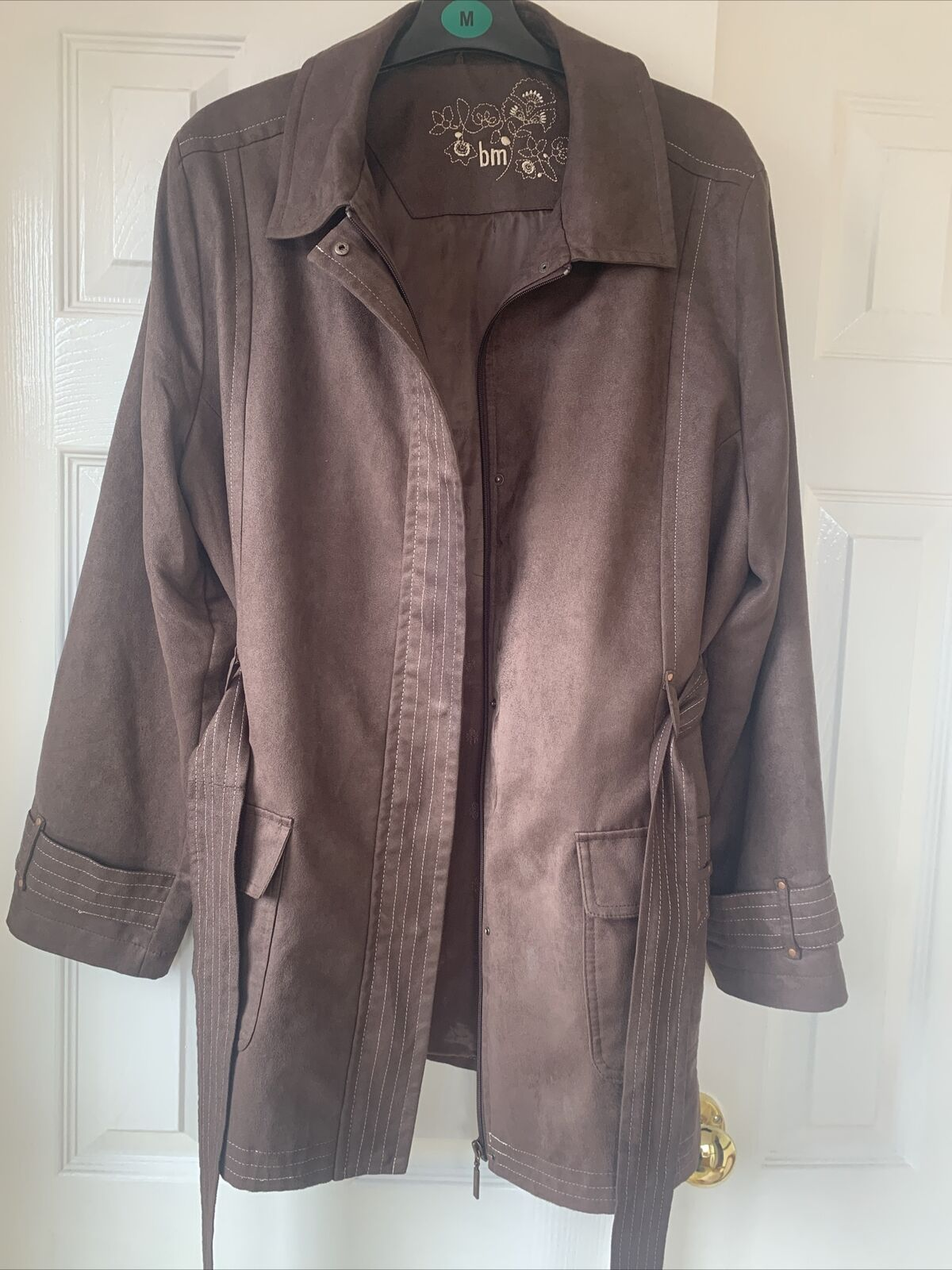 Bon Marche 18 Ladies Jacket, Brown Suede Like Material, Light,