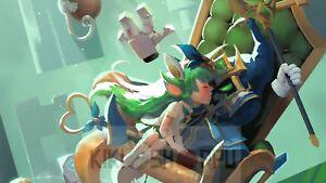 Poster 42x24 Cm League Of Legends Veigar Jefe Final Lulu Final