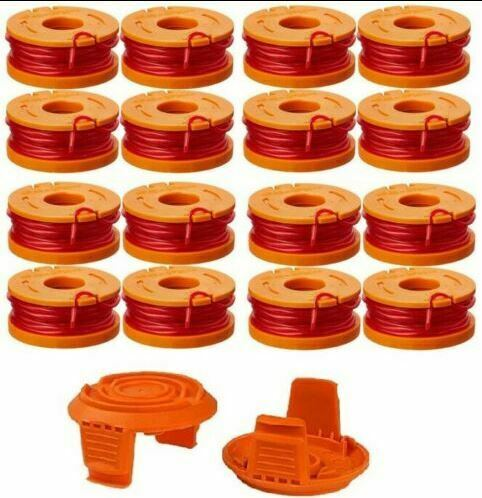 Replacement Grass Trimmer Spool 10ft Caps Line Weed Eater For Worx WA0010 9 TL04