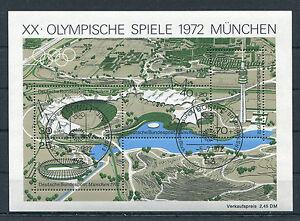 Bund-Block-7-gestempelt-ESST-Bonn-BRD-723-726-Olympische-Spiele-Muenchen-used
