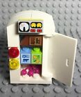 Lego New MOC Smart Fridge / Refrigerator City Home Kitchen Appliance With Foods
