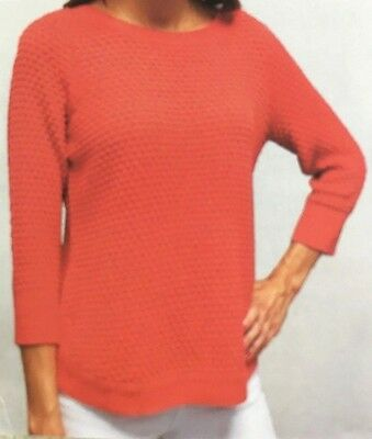 VARIETY COLORS /& SIZES NEW WOMENS FEVER POPCORN KNIT 3//4 SLEEVE SWEATER