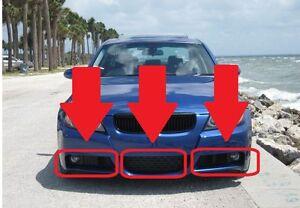 BMW-NEW-GENUINE-FRONT-BUMPER-LOWER-GRILL-SET-FIT-3-SERIES-E90-E91-M-Sport-05-08