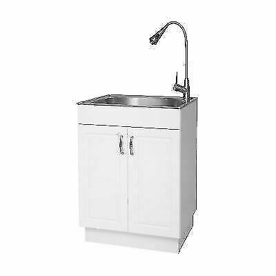 Glacier Bay All In One Stainless Steel Laundry Utility Sink And