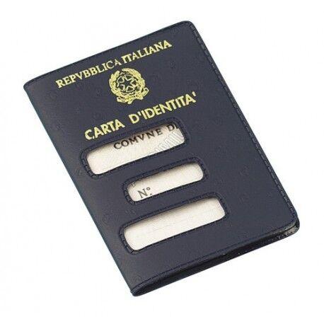 Porta carta d/'identità cartacea Custodia interna plastificata ed agendina dati