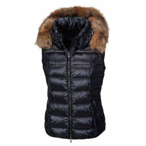 Navy Pikeur Women/'s Alice Gilet Detachable Hood-Faux Fur Trim-Warm RDS-Down