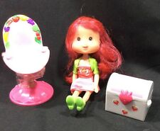 Strawberry Shortcake Bundle. Chair Still With Tape. Doll And Chest.