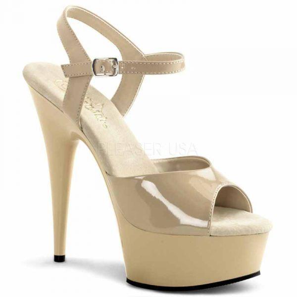 Delight-609 sexy Pleaser Poledance High Heels Sandaleetten Lack Übergrößen 35-45