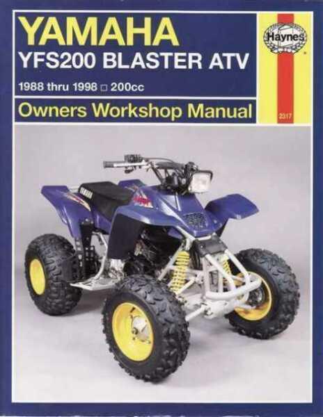 Yamaha Yfs200 Blaster Atv 1988