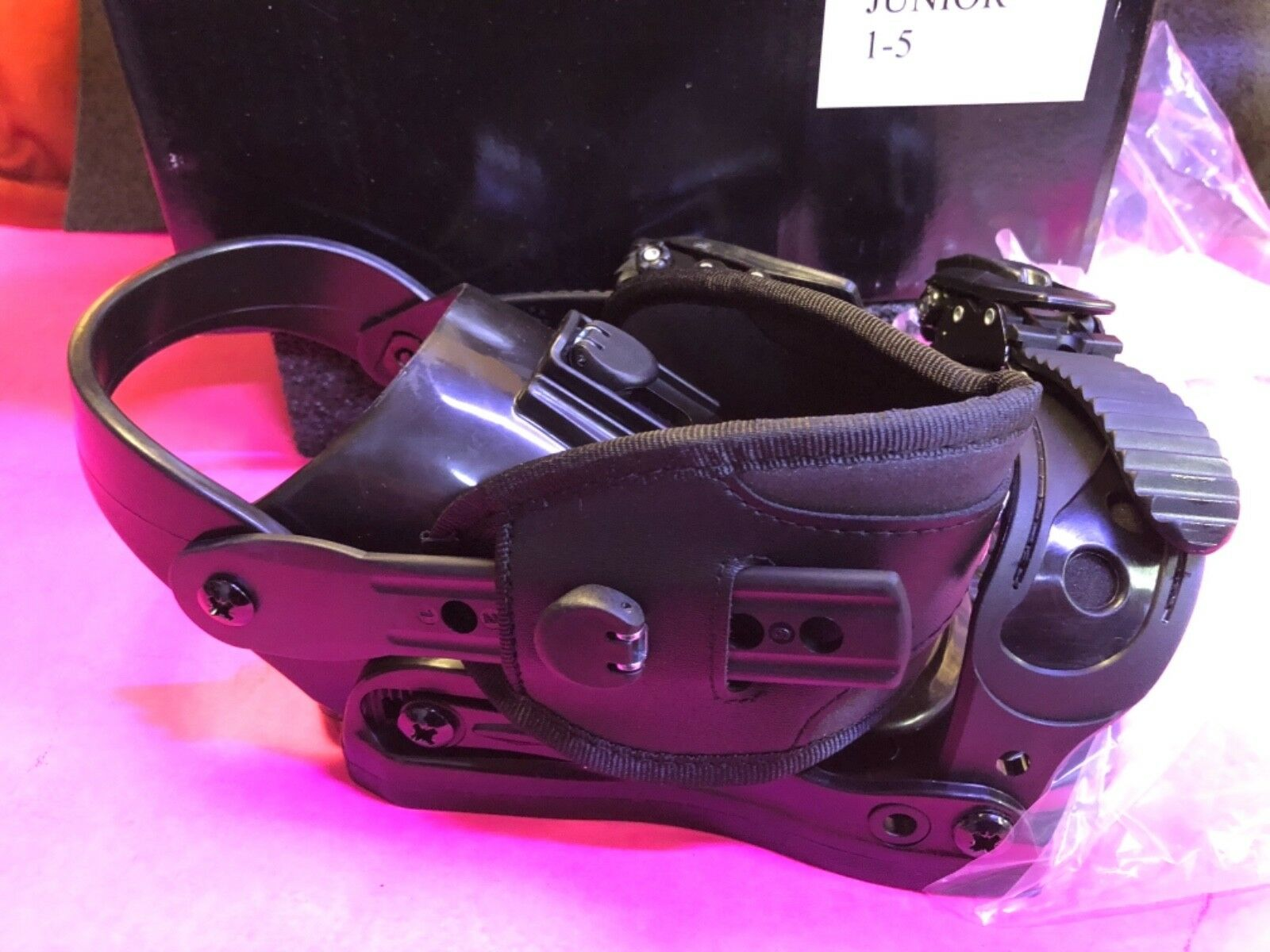 Brand New In Box 5th Element Stealth Jr 1-5  Snowboard Bindings 294346