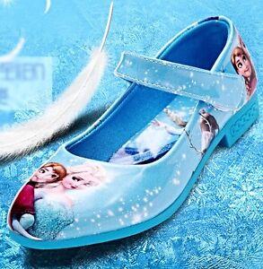 save off 84da8 5c2fc Dettagli su Frozen Elsa Anna Principessa Scarpe Da Sera Costume Bambino  Taglia 6 7 8 9 10 11 12 13- mostra il titolo originale