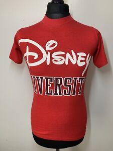 Disney University Casuals Vintage Retro Red T-Shirt Tee S Small RARE