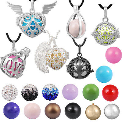 Angel caller pendant with necklace sounds spheres locket pendant silver plated