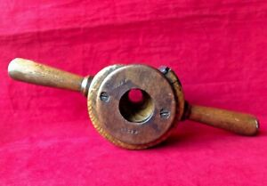 Antique-Wooden-Tapered-Rounder-Rounding-Plane-Pole-Shave-Woodworking-Tool