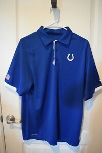 Details about Indianapolis Colts Polo shirt NIKE DRI-FIT - Brand New ! NFL  Shield logo 4833f74dd25