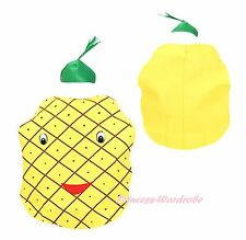 Halloween School Party Yellow Fruit Pineapple 2pc Kids Child Unisex Costume Set