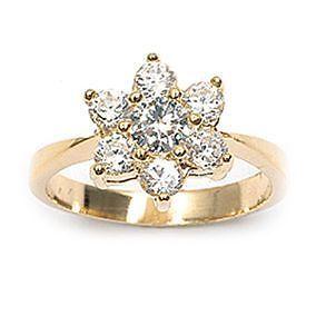Dolly-Bijoux Bague T52 Marquise de Diamant Cz 20mm Plaqué Or 18K 5 Microns