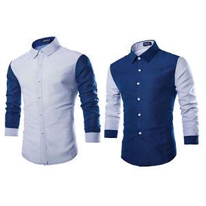 Camisetas-de-estilo-y-Calce-Ajustado-Informal-de-Manga-Larga-Para-Hombre-De-Lujo-Formal-Vestido