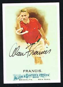 Alan-Francis-48-signed-autograph-auto-2010-Topps-Allen-amp-Ginter-039-s-Card