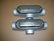 """Cooper Crouse-Hinds T200M CG Form 5 Conduit Body Cover /& Neoprene Gasket 2/"""""""