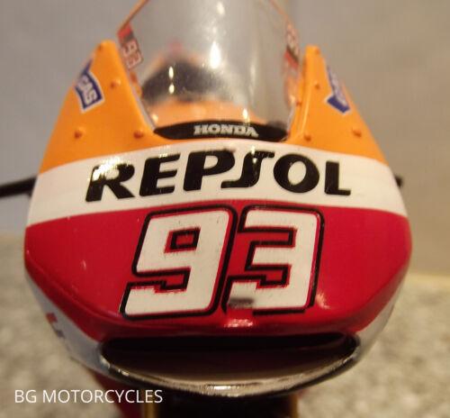 1:18 2014 Fabrik Hrc Repsol Honda RCV213 Rotguss Spielzeug Modell Marc Marquez #