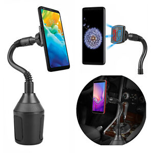 360° Universal Car Cup Holder Mount Cradle Magnetic Suction Stand For Cell Phone