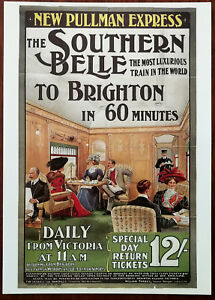 New-Pullman-Express-The-Southern-Belle-by-Edward-Theodore-Sharland-1909-Train