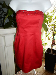 0fc5527c86d4 Free People Ruby Red Studded Strapless Micro Mini Dress Full Back ...
