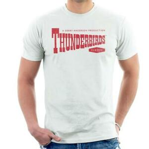 Thunderbirds-Classic-Logo-Men-039-s-T-Shirt