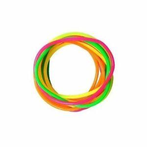 Neon-Gummy-Bangles-12-Bandas-Pulseras-Jelly-Pulseras-80-039-s-Fancy-Dress-Girls