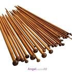 "36pcs 18Size 9.7"" 25cm Double Pointed Carbonized Bamboo Knitting Needles Crochet"