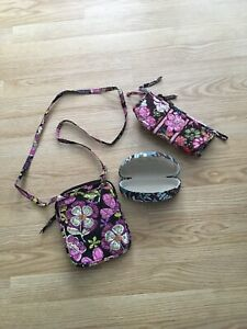 Vera-Bradley-Lot-Small-Crossbody-Make-Up-Bag-amp-Glasses-Case