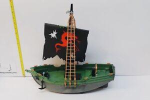 VINTAGE-PLAYMOBIL-Nave-Pirata-1991-circa-18-034-x-15-034-da-Collezione-Giocattolo-Retro