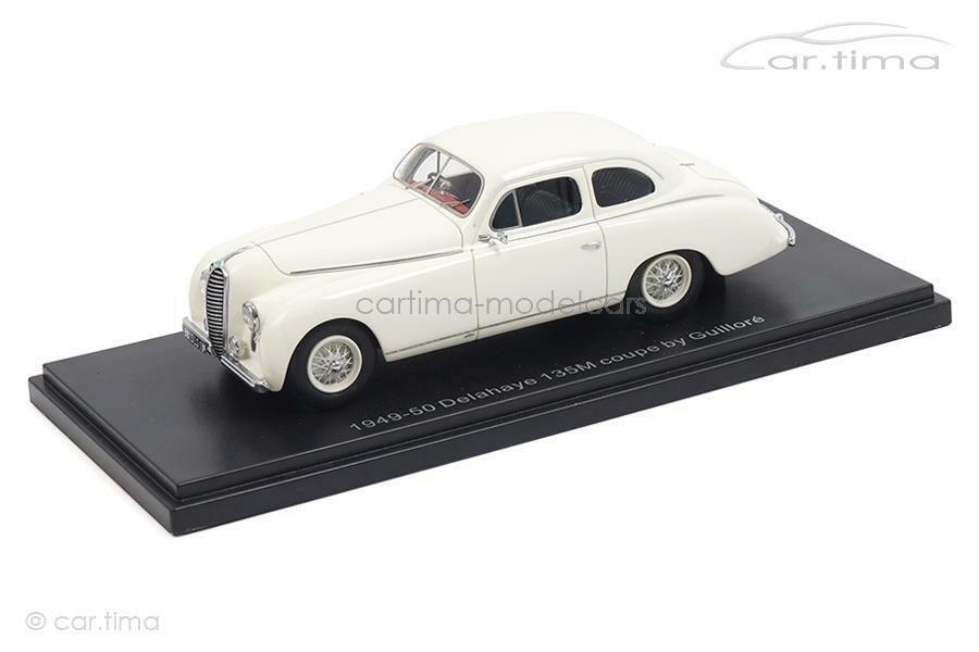 Delahaye 135m Coupe by guilloré-White-esval Models 1 43 - Sets 43010b
