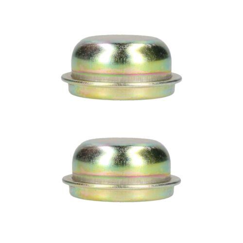 Reemplazo Tapa de Metal de 50.5mm cubierta de polvo cojinete de remolque de Cubo de rueda paquete de 2