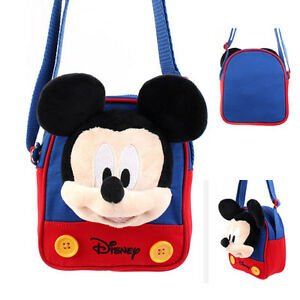 c4683a1be8 Details about Disney Mickey Mouse Head Plush Type Shoulder Messenger Bag  Cross Body Travel Kid