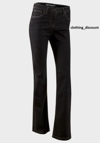 Ladies womans Black bootcut jeans trousers denim long leg 10 12 14 16 18 20 22