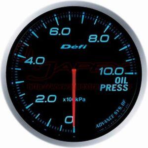 Defi-Collegamento-Metro-Advance-Bf-Olio-Manometro-Blu-Viso-60mm-DF10203