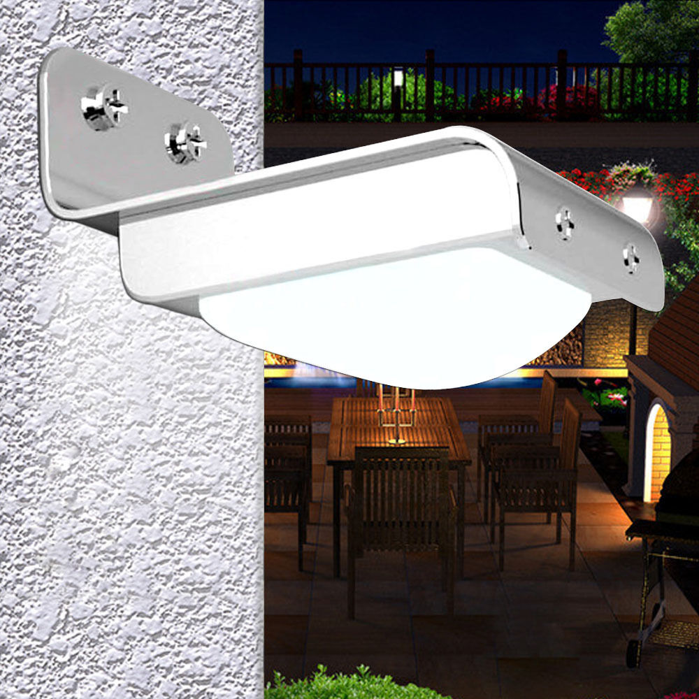 Outdoor Solar Lights Parts: 16-LED Solar Powered PIR Motion Sensor Garden Security