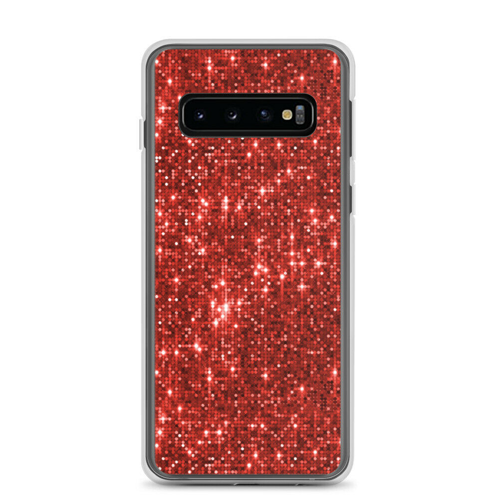 Image 01 - Samsung Case decorated with red glitter
