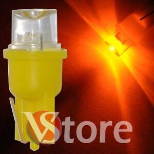 2-LED-T10-CONCAVE-Giallo-Lampade-Lampadine-Luci-Per-Targa-e-Posizione-W5-12V