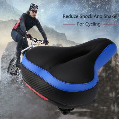 Breathable Bike Seat Large Reflective Shock Absorb Spring Bicycle Saddle Cushion