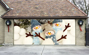 Details about christmas garage door covers 3d banners outside house