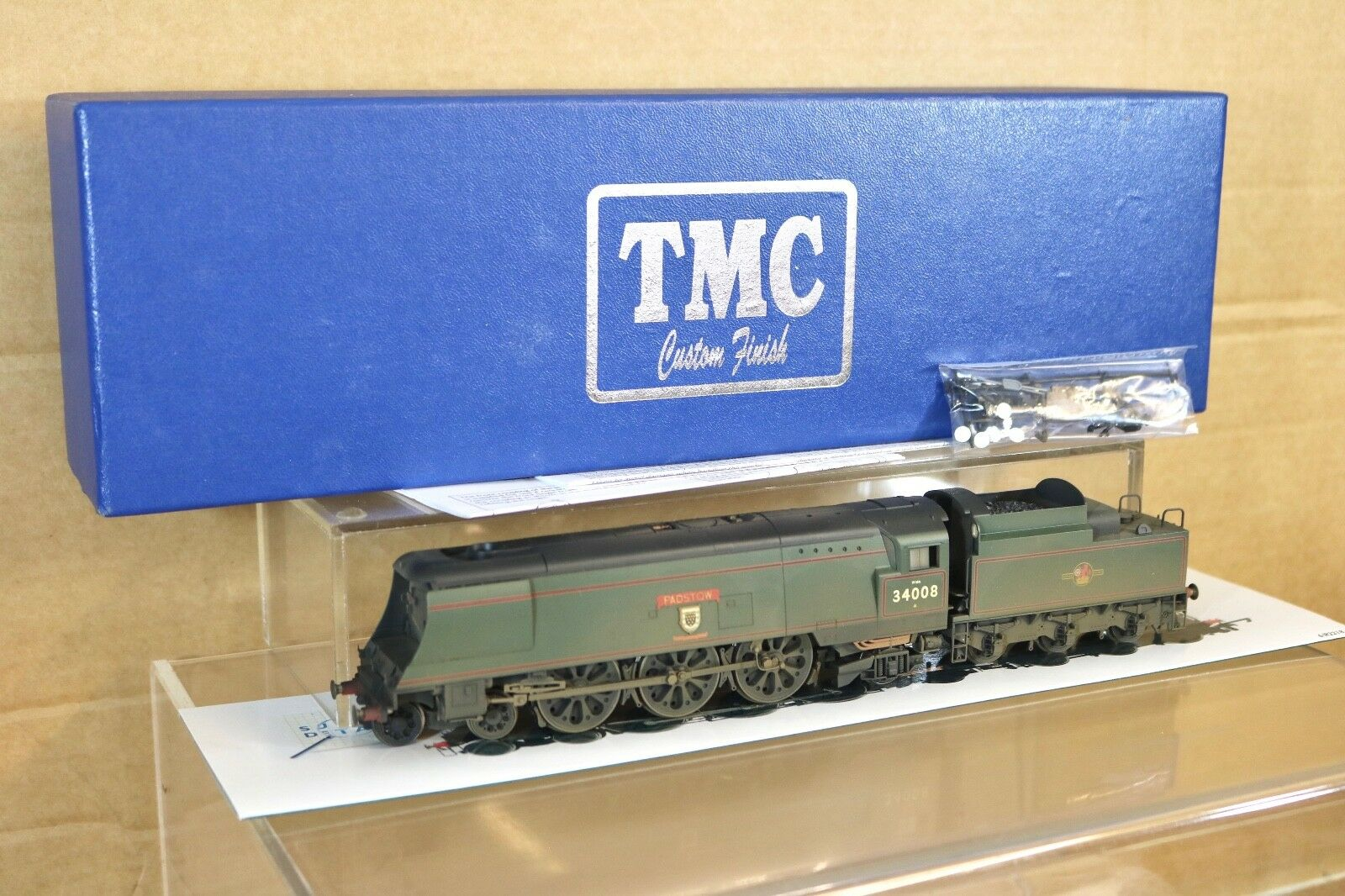 HORNBY R2218 TMC WEATHErosso RENAMED DCC BR 4-6-2 WEST COUNTRY LOCO 34008 PADSTOW