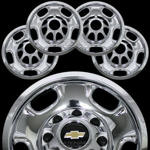 4 Chevy Silverado 2500 3500 HD 17 8 Lug CHROME Wheel Skins Rim Covers Hub Caps