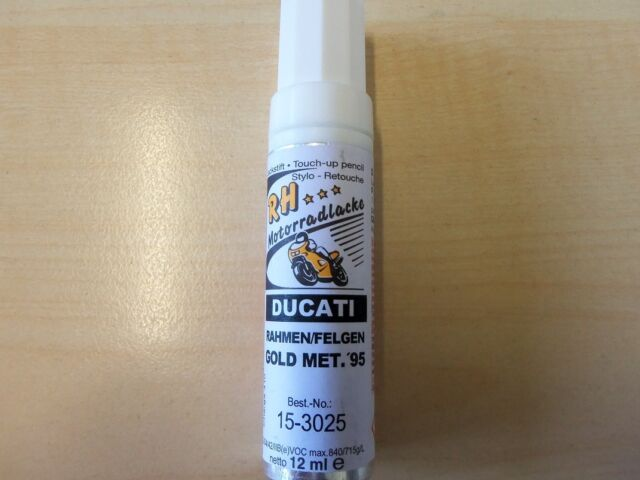 82,50€/100ml RH Lackstift Ducati Rahmen / Felgen gold metallic 1995