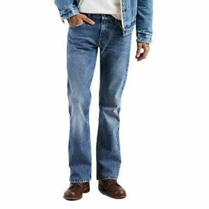 Levis-527-New-Mens-Slim-Fit-Boot-Cut-Levi-039-s-Bootcut-Jeans-Color-Dark-Stone-0570
