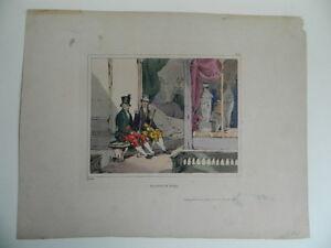 Litografia Valletti Di Piede Lami Eugene Louis Incisione Colori London Colnaghi