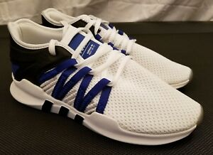 quality design 32613 c39bf Image is loading Adidas-Eqt-Racing-Adv-Running-Shoes-White-Blue-