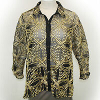 Berek Plus Size Embroidered Seeds Of Gold Mesh Jacket Blouse 1x, 1xl
